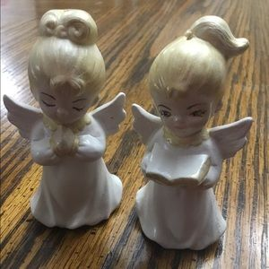 2 Angel Christmas Tree Ornaments 3 inches